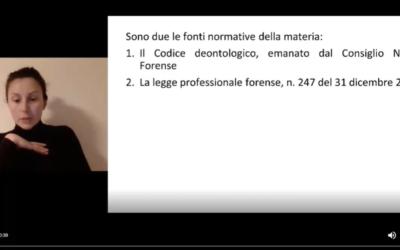 Introduzione all'ordinamento forense e disposizioni generali della legge professionale forense