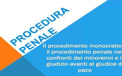 Il procedimento monocratico e il procedimento penale nei confronti dei minorenni, il giudizio avanti al giudice di pace