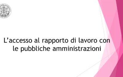 L'accesso al rapporto di lavoro con le pubbliche amministrazioni