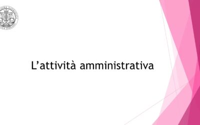 L'attività amministrativa