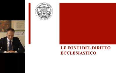 Le fonti del Diritto Ecclesiastico e lo Stato Città del Vaticano