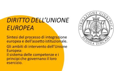 Gli ambiti di intervento dell'Unione Europea e il sistema delle competenze
